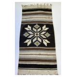 Woven Rug: Brown, Black Snowflake