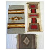 3pc Handwoven Rugs: Yellow Gray, Red Town, Purple