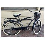 Huffy Single Speed Cruiser Bicycle, Black/ White