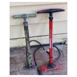 2 Pc Bicycle Pumps, One Has Pressure Gauge