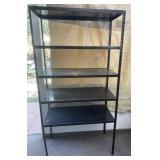 3 Foot Wide Black Metal Storage Shelf