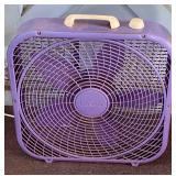 Purple 20 Inch Box Fan