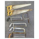 """7pc 24"""" hand, 12"""" hack saws"""