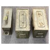 3pc Military Issue Metal Ammo Cans