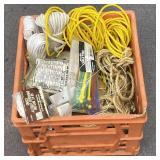 Assorted rope, twine, clothesline