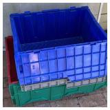 4pc Plastic Lidded Tubs