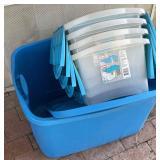 5pc Storage Tubs W/ Lids