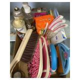 Furniture Polish, Broom, Gloves, Cleaning Items
