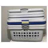 8pc Plastic Laundry Bins