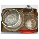 Glass Bakeware, Pyrex Measuring, Bowls