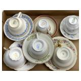Ceramic Collectible Cups, Saucers