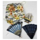 Folding Fans, Island Themed Collectibles
