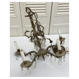 Metal Frame Faceted Beaded Electric Chandelier