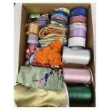 Ribbon, String Fringe: Plastic, Cotton