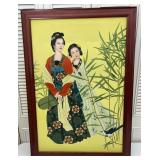 Large Canvas Painting: Asian Women