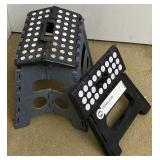 2pc Folding Plastic Stepstools