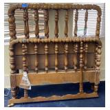 Two 2pc Twin Size Wooden Headboards, Footboards