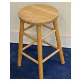 Solid Wooden Natural Stained Stool
