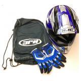 HJC Motorcycle helmet, keys, gloves