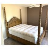 Queen Poster Bed, Sealy Posturepedic Mattress