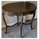 Medium Oval Hand Carved Wooden Side/ End Table