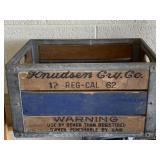 Knudson Vintage Wooden Canning Crate