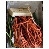 Tub Of Assorted Electrical Extension Cords