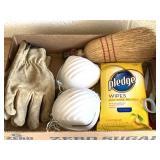 Gloves, Masks, Wipes, Scissors, Hand Broom