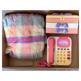 Barbie Phone, Barbie Make Up Kit, Blanket Throw