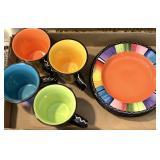 8pc Ceramic Mug, Plate Set