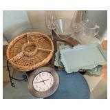 Assorted Decor, Kitchen, Wall Clock, Glassware