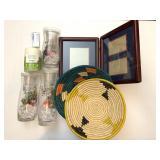 Asst. Décor Items, Baskets, Picture Frame, Candles