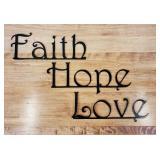 """metal """"Faith, Hope Love"""""""
