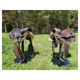 Horse Saddle Bar Stools