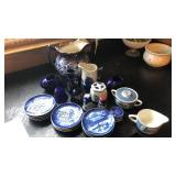Blue porcelain dishes