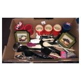 Box of miscellaneous kitchen utensils