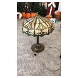 Brass Tiffany style lamp