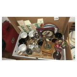 Box of miscellaneous with coffee grinder