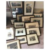 Primitive Americana and nature prints and frame