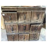 Antique file drawers 4 piece