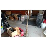 Kitchen box, ricers, lamp, glassware