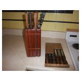 knife set and block