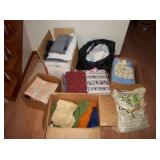 boxes of fabric