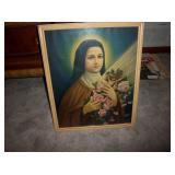 framed Mary print