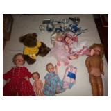 vintage dolls and dishes