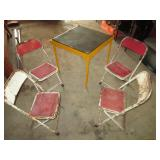 vintage kids folding table and chairs