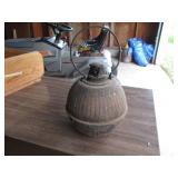 small metal oil lantern
