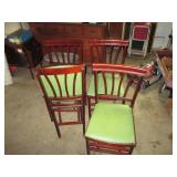 vintage folding chairs and table