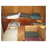 five boxes of fabric