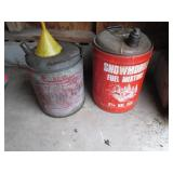 gas cans with contents